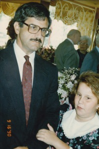 Becky and Dad 1990